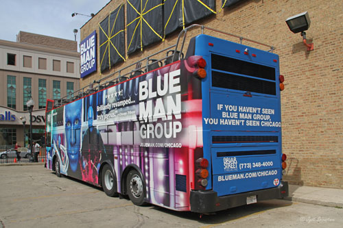 Blue Man Group Bus