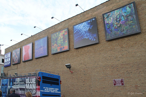 Blue Man Group Art Gallery, with reproduction of the six winning artworks..