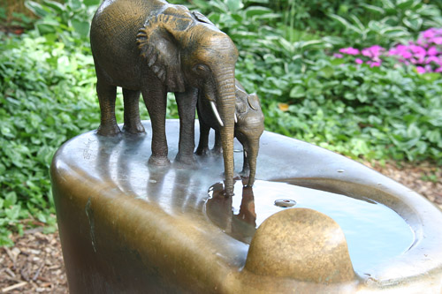 Elephant Fountain - by George Suyeoka