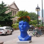 2013: Giant Head Planters - by Plant Green Ideas