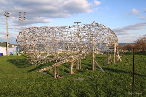 Whale sculpture - by Preston Jackson