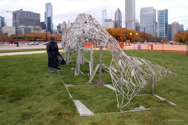 2013: Sperm Whale sculpture - by Preston Jackson