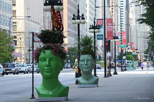 Giant Head Planters – by Plant Green Ideas