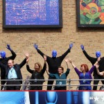 2013: Blue Man Group Unveils New Outdoor Art Gallery