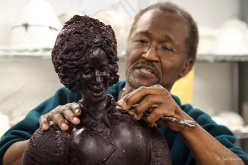 Preston Jackson creating a wax model