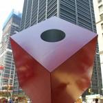 Red Cube – by Isamu Noguchi