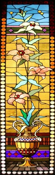 Elongated Flower in an Ornate Urn- Artist Unknown