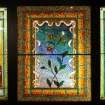 Flowers in a Ribbon Frame - by Belcher Mosaic Glass Company
