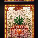 Elaborate symmetrical composition with Leaves and Urn - by unidentified designer