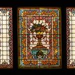 Flowers & Urn, a triptych - by unidentified designer