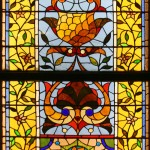 Stylized Floral Window - by unidentified designer