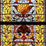 Stylized Floral Window - by unidentified designer