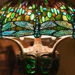 Hanging Head Dragonfly Shade on Mosaic and Turtleback Base at AIC  - Tiffany Studio