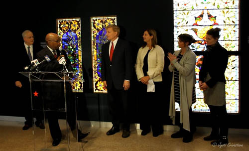 Opening Reception of New Installation of American Victorian Stained Glass Windows at Macy's Pedway.