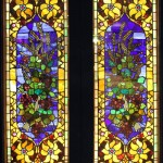 Pair of Grain Bouquet Windows - by unidentified designer