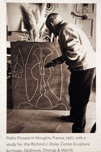 Picasso with plywood maquette