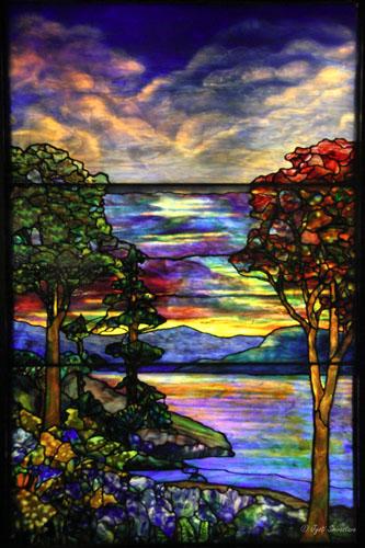 Autumn Landscape – by Agnes F. Northrop / Tiffany Studio