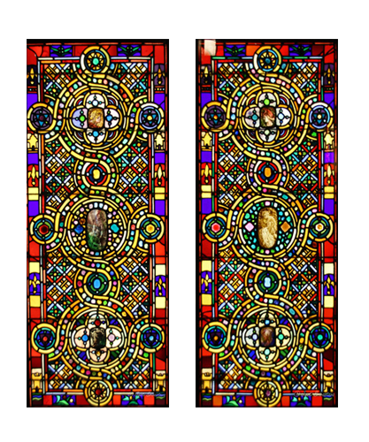 Pair of Medievalized Windows - by Tiffany and Associated Artists