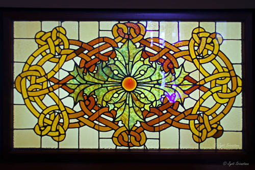 Stained Glass in Auditorium bldg.