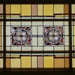 Stained glass at Auditorium bldg.