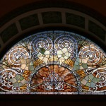 Stained glass at Ganz Hall, Auditorium Bldg.