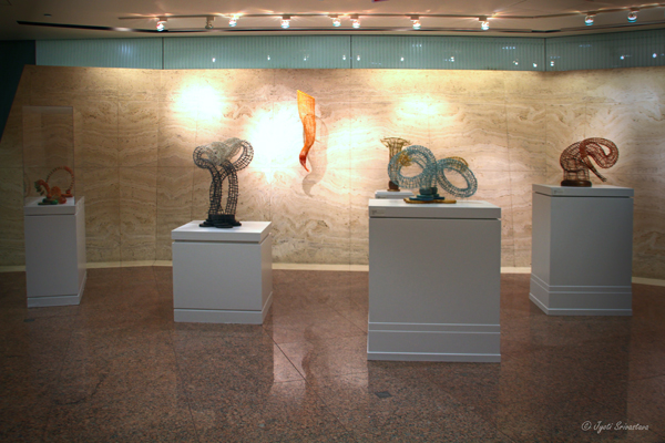 Sculptures by Donna Hapac at Willis Tower Sculpture Exhibition