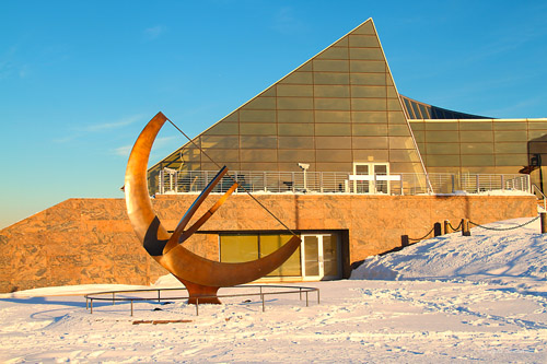 """Sundial """"Man Enters the Cosmos"""" - by Henry Moore"""
