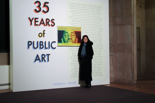 Opening Reception and me .. Photo courtesy Lynn  Becker