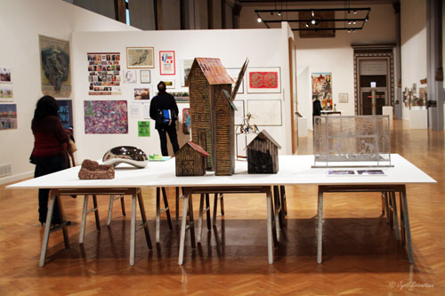 Maquettes of works that have been commissioned and installed