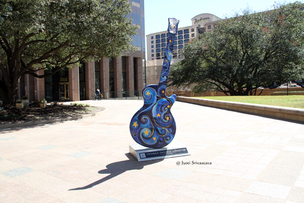 Twinkle Twinkle Lone Star -  by Amanda Dunba / Guitartown Austin Art Project