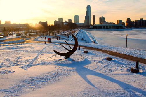 Chicago Snowscape - from Adler Planetarium