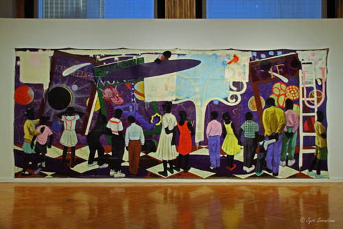 Knowledge and Wonder [1995]  by Kerry James Marshall  Legler Branch Library