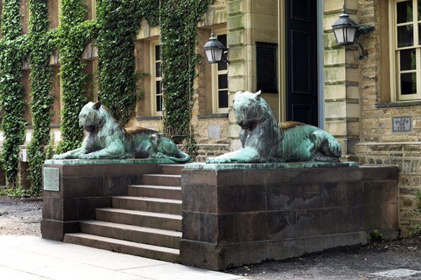 Bronze Tigers - by Alexander Phimister Proctor / in front of Nassau Hall at Princeton University, 1910