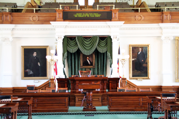President of the Senate's desk /Texas Senate Chamber / Texas State Capitol