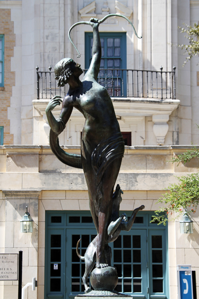 Diana the Huntress - by Anna Hyatt Huntington /   University of Texas, Austin.