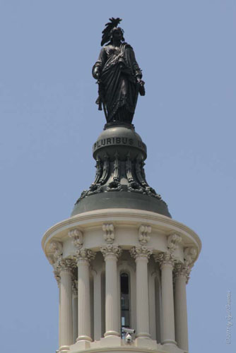The Statue of Freedom, by Thomas Crawford