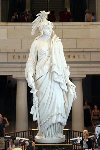 The Statue of Freedom, by Thomas Crawford [plaster model at display]