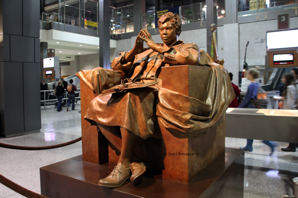 "Barbara Jordan ""True Patriot"" - by Bruce Wolfe / Austin Airport."