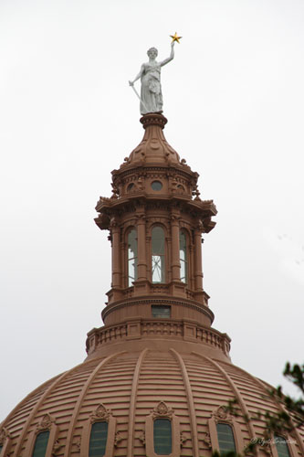 Goddess of Liberty atop the Capitol Building dome