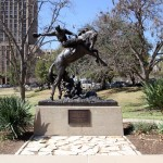 Texas Cowboy - by Constance Whitney Warren [Erected 1925]