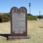 The Ten Commandments [Erected 1961 by the Fraternal Order of Eagles of Texas]