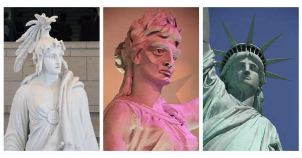 Statue of Freedom, Goddess of Liberty, and Statue of Liberty