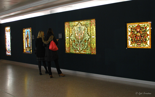 American Victorian Stained Glass Windows at Macy's Pedway