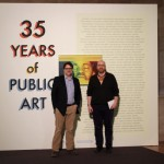 Nathan Mason [Curator of the Exhibition] and Daniel Shulman [Program Director, Visual Art department at DCASE]