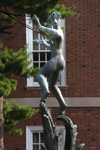 Diana Fountain - by Carl Milles / University of Illinois at Urbana-Champaign