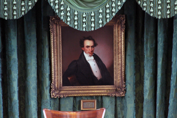 Painting of  Stephen F. Austin , by Unknown artist / Texas Senate Chamber / Texas State Capitol