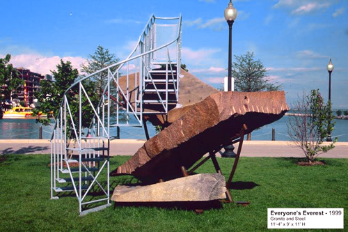 Everyone's Everest- by Barry Hehemann  / 1999/ Granite and Steel