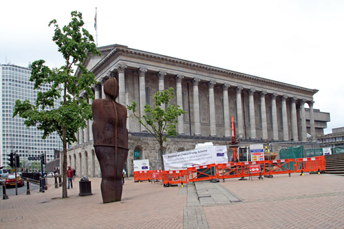 Town Hall, Birmingham, with Anthony Bromley's Iron Man