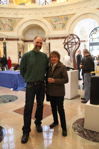 Alderman Vi Daley with Eric W. Stephenson, President of CSI