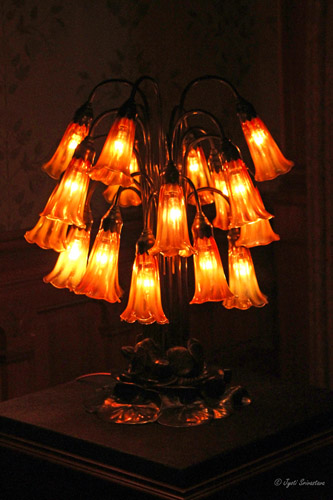 Eighteen light lily lamp / Prior to 1902